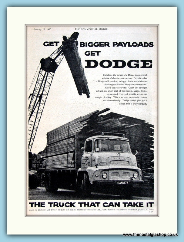 Dodge Trucks Original Advert 1960 (ref AD2980)