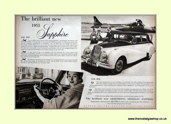 Armstrong Siddeley Sapphire Original Advert 1954 (ref AD6682)
