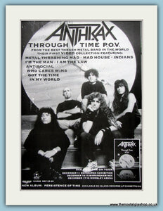 Anthrax Through Time P.O.V 1990 Original Advert (ref AD3046)