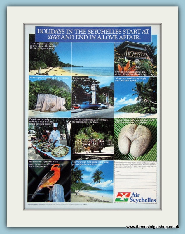 Air Seychelles Original Advert 1985 (ref AD2124)