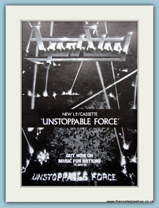 Agent Steel, Unstoppable Force 1987 Original Advert (ref AD3154)