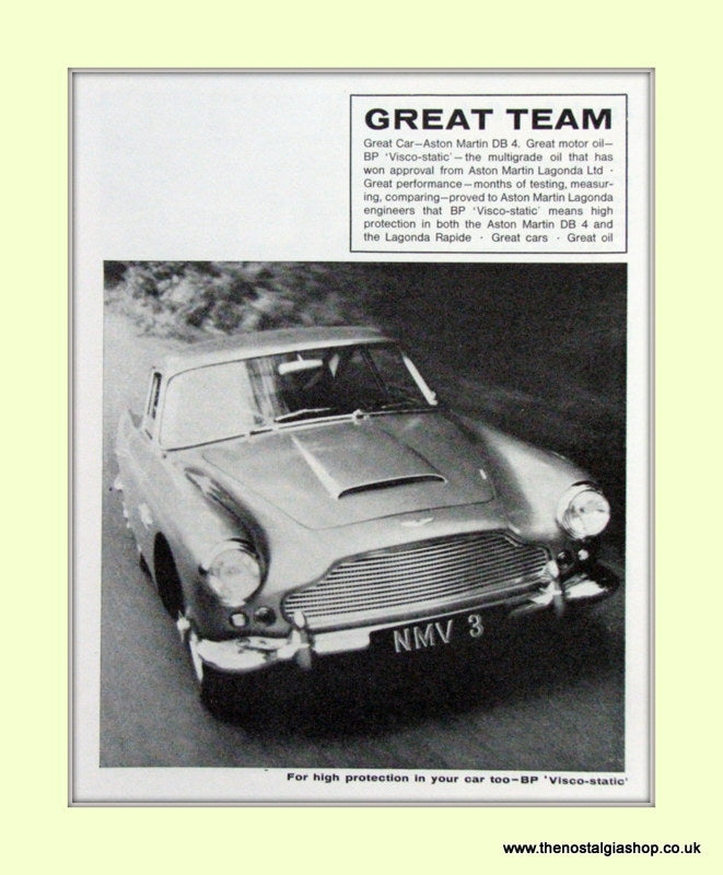 Aston Martin DB 4 Original Advert 1963 (ref AD6725)