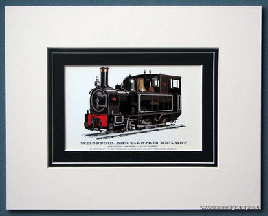 Welshpool And Llanfair Railway 'The Countess' Mounted Print (ref SP84)