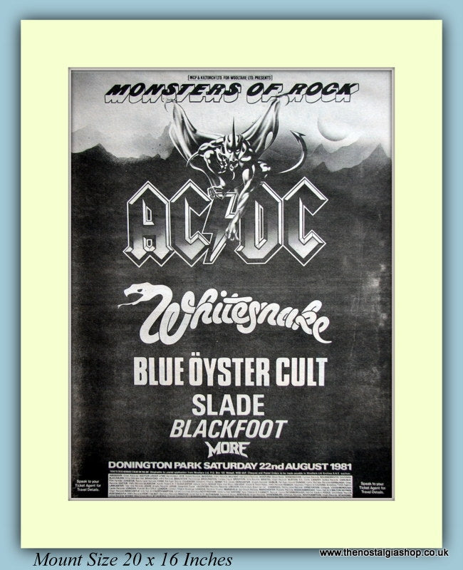 Monsters Of Rock Donnington Park August 1981 Original Advert (ref AD9141)