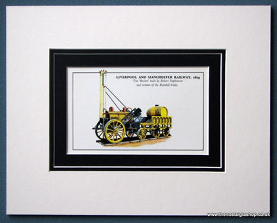 'Rocket' By Robert Stephenson Liverpool And Manchester Railway Mounted Print (ref SP12)