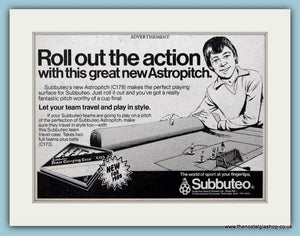 Subbuteo Astropitch Original Advert 1980 (ref AD6387)