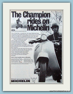 Michelin Scooter Tyres with Colin Kay, 1970 Original Advert (ref AD4073)