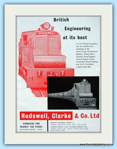 Hudswell,Clarke Vulcan Sinclair Scoop Original Advert 1957 (ref AD6500)