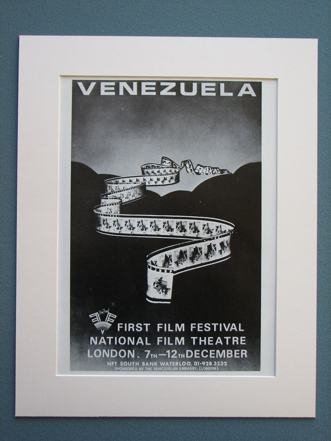 Venezuela First Film Festival 1978 Original advert (ref AD703)