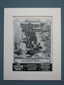 Swallows and Amazons 1974 Original advert (ref AD577)