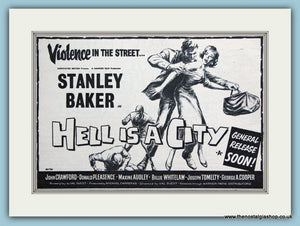 Hell Is A City, 1960 starring Stanley Baker Original Advert (ref AD3191)