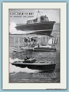 Power Boats Original Advert 1938 (ref AD2331)