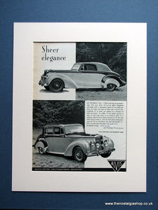 Alvis TC.21/100 1954 Original Advert (ref AD1465)