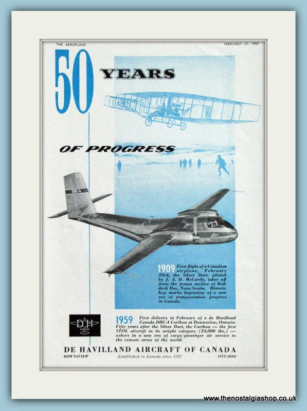 De Havilland Canada DHC-4  Original Advert 1959 (ref AD4271)
