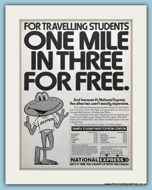 National Express Coach Travel Original Advert 1982 (ref AD3693)