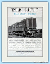 Load image into Gallery viewer, Laidlaw Drew Train Equipment & Diesel Shunter. Original double advert 1951 (ref AD6214)