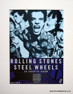 Rolling Stones Steel Wheels1989 Original Advert (ref AD905)