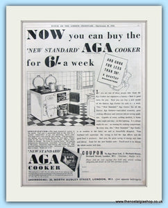 AGA Cooker. Original Advert 1935 (ref AD4755)