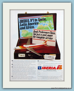 Iberia Airlines Original Advert 1985 (ref AD2182)
