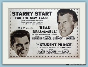 Beau Brummell & The Student Prince 1954 Original Film Advert (ref AD3345)