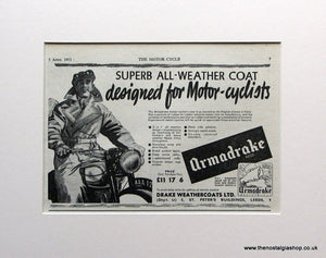 All Weather Coat 1951 Original Advert (ref AD1582)