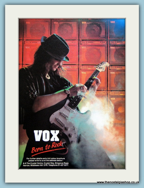 Vox Guitars & Accessories Original Advert 1989 (ref AD2735)