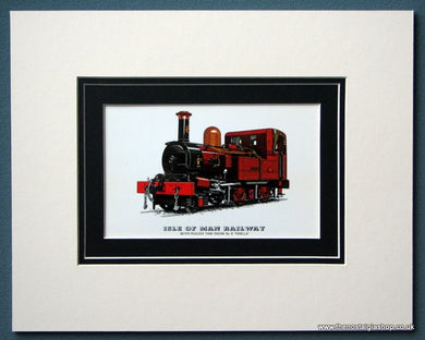 Isle Of Man Railway 'Fenella' Mounted Print (ref SP78)