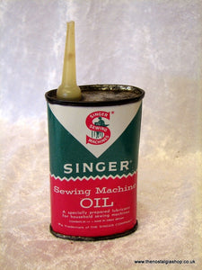 Singer Sewing Machine Oil. Vintage Tin (ref nos050)