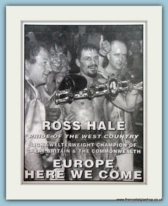 Ross Hale Light-Welterweight Champion. 1994 Print (ref AD4411)