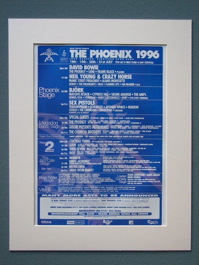 The Phoenix 1996 event Original Advert (ref AD880)