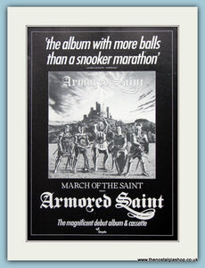 Armored Saint March Of The Saint 1985 Original Advert (ref AD3161)