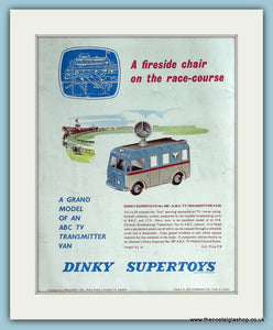 Dinky Toys TV Transmitter Van. Original Advert 1962 (ref AD2828)