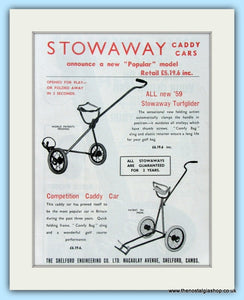 Stowaway Caddy Car. Original Advert 1959 (ref AD4960)