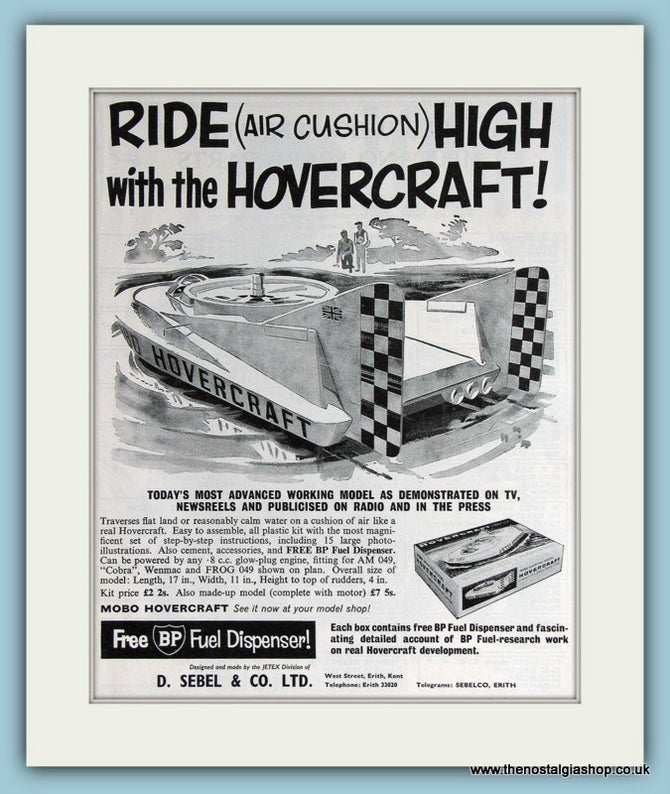 Hovercraft Model Kit 1963 Original Advert (ref AD2815)