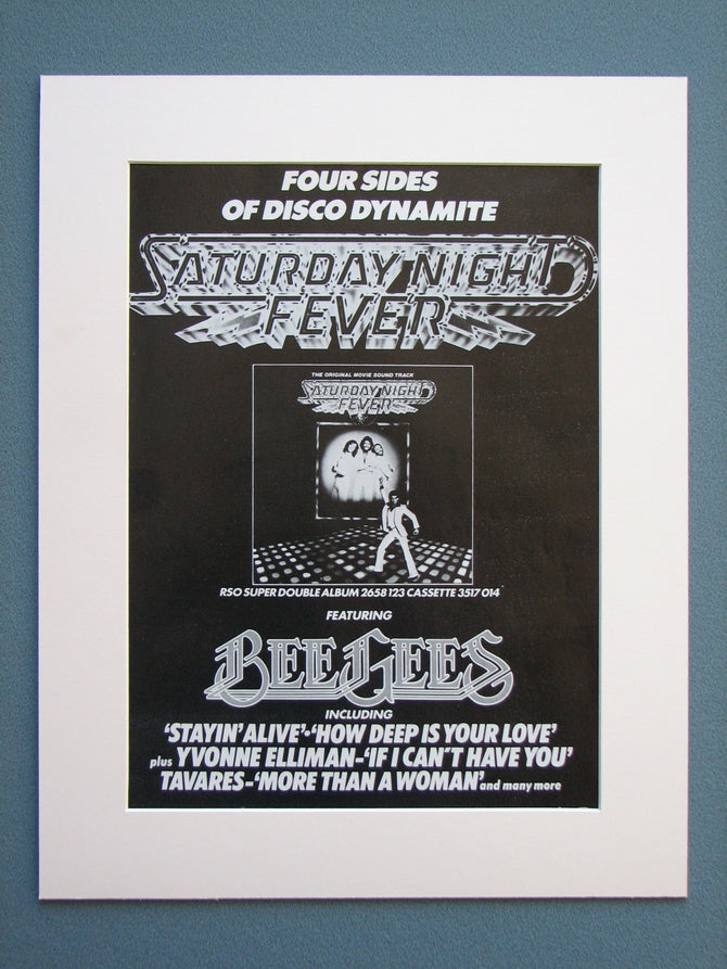 Saturday Night Fever Bee Gees Original Advert 1978 (ref AD670)