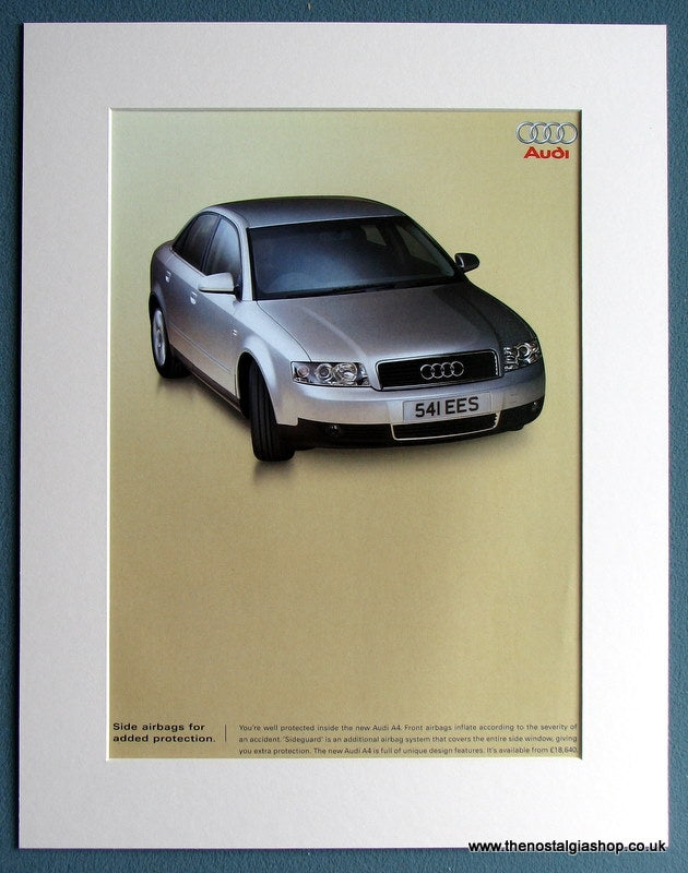 Audi A4 2001 Original Advert (ref AD1750)