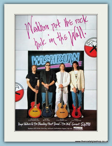 Washburn Guitars with Roger Waters & The Bleeding Heart Band. Original Advert 1990 (ref Ad2221)