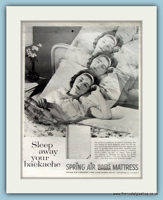 Spring Air Mattress. Original Advert 1962 (ref AD8291)