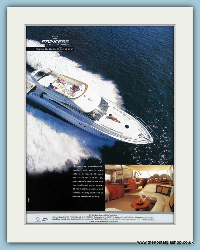 Princess Power Boat Original Advert 2004 (ref AD2326)