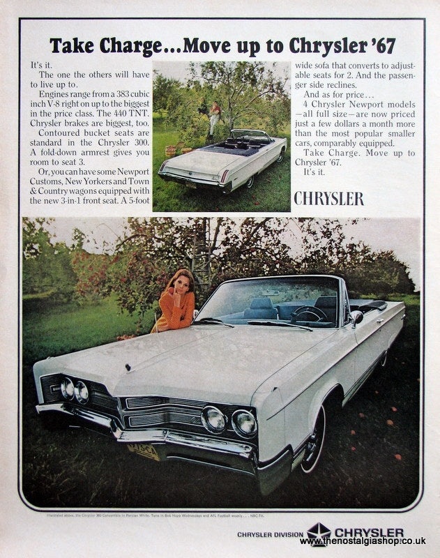 Chrysler 300 Convertible 1966 Original Advert (ref AD4065)