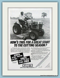 Kubota B7100 Motor mower. Original Advert 1983 (ref AD4608)