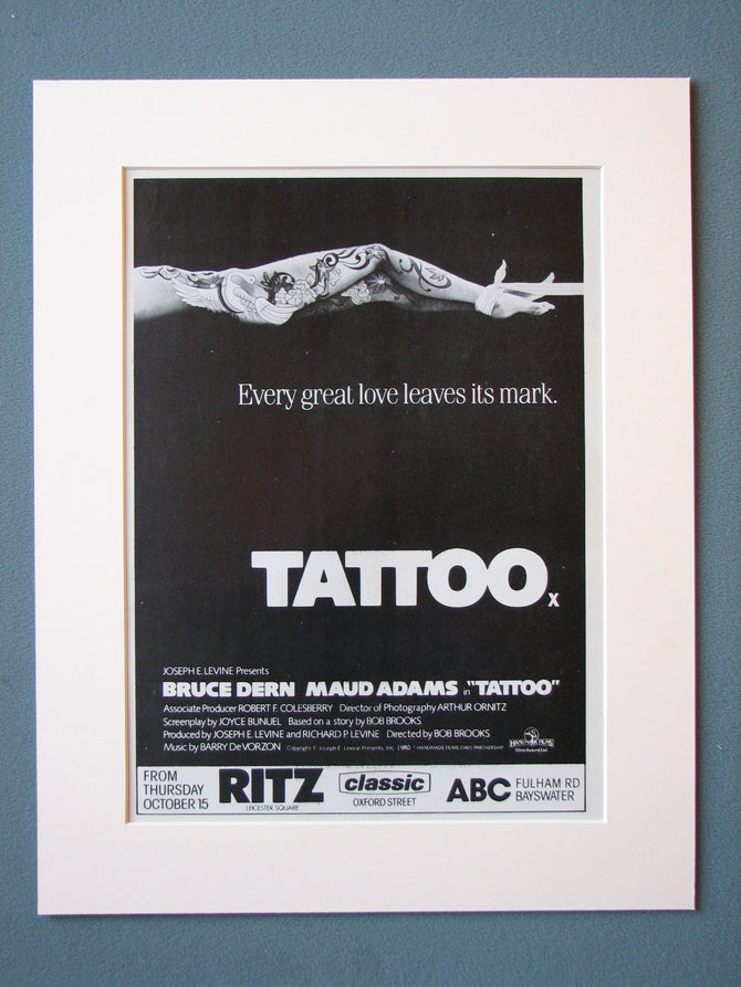 Tattoo Original Advert 1980 (ref AD468)
