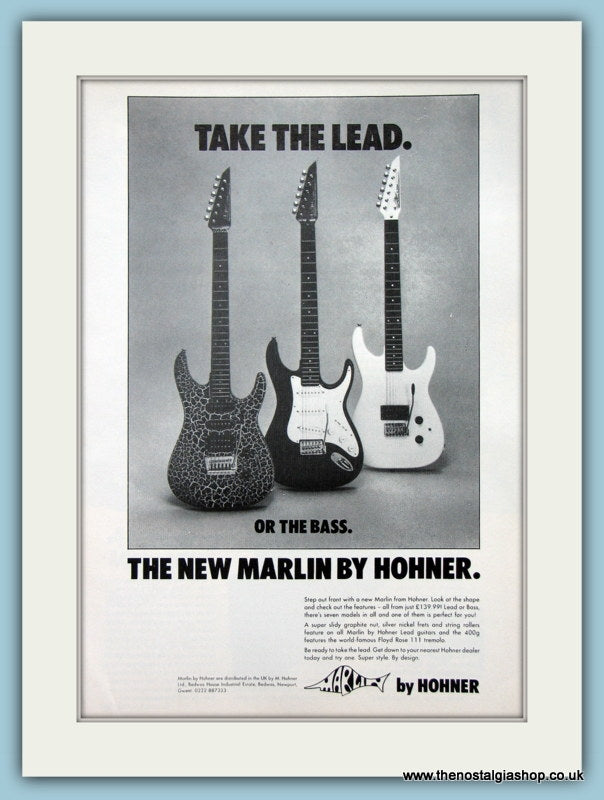 Marlin Guitar By Hohner Original Advert 1989 (ref AD2717)