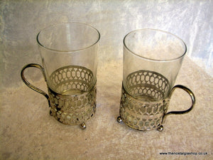 Glass Cups Set of two (ref nos75)