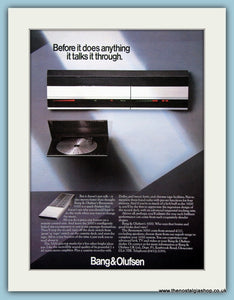 Bang & Olufsen Beosystem 3000 Original Advert 1984 (ref AD3870)