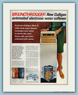 Culligan Water Softener. Original Advert 1967 (ref AD8234)
