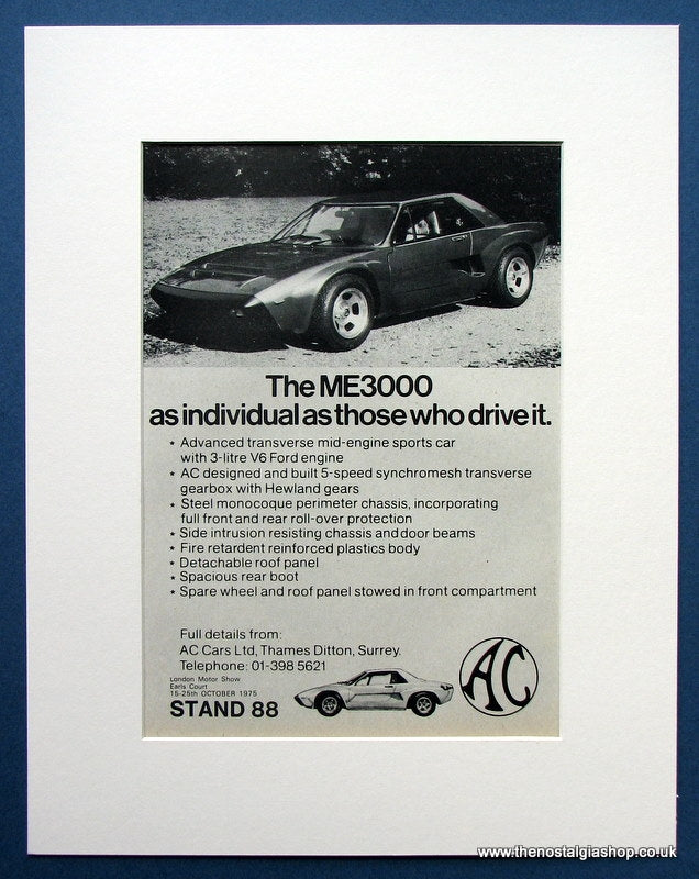 The ME3000 Sports Car 1975 Original Advert (ref AD1444)