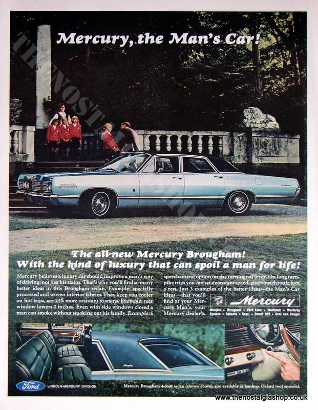 Ford Mercury Brougham Sedan. Original Advert 1960s (ref AD4042)