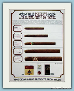 Wills Guide To Cigars. Original Advert 1964 (ref AD6049)