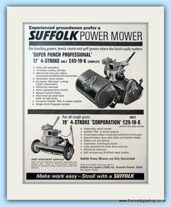 Suffolk Super Punch Mowers. Set of 2 Original Adverts 1968 (ref AD4647)